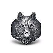 Украшения ручной работы. Ярмарка Мастеров - ручная работа Кольцо Волк. Handmade.