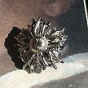 Винтаж handmade. Livemaster - original item Silver flowers clips, Lisner, America. Handmade.