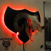Ночники ручной работы. Ярмарка Мастеров - ручная работа Череп Барана с подсветкой. Handmade.