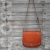 Сумки и аксессуары handmade. Livemaster - original item Leather bag OLLE, saddle bag, messenger. Handmade.