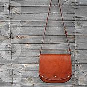 Сумка почтальона ручной работы. Ярмарка Мастеров - ручная работа Сумка из кожи OLLE, saddle bag, messenger. Handmade.
