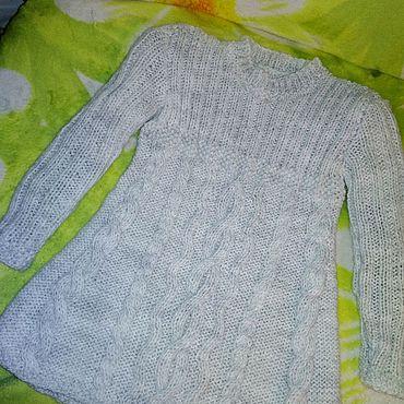 Одежда ручной работы. Ярмарка Мастеров - ручная работа Туника теплая для девочки ручная работа спицами. Handmade.