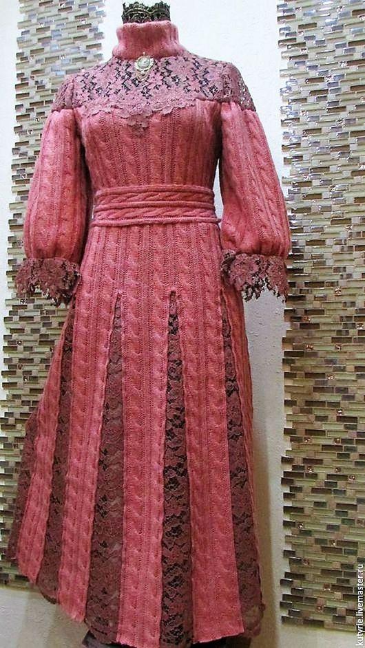 """Платья ручной работы. Ярмарка Мастеров - ручная работа. Купить Авторское бохо-платье """"Lace Rose Quartz"""". Handmade."""