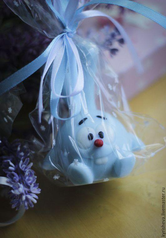 """Мыло ручной работы. Ярмарка Мастеров - ручная работа. Купить Сувенирное мыло ручной работы """"Смешарики: Крош"""". Handmade. Голубой"""
