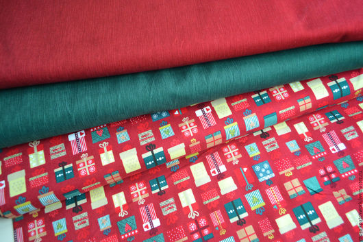 Шитье ручной работы. Ярмарка Мастеров - ручная работа. Купить Американский хлопок для шитья. Подарок, зеленый, бордо. Handmade.