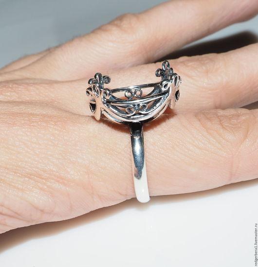 """Для украшений ручной работы. Ярмарка Мастеров - ручная работа. Купить Основа для кольца """"Злата""""(20мм) - серебрение 925 пробы. Handmade."""