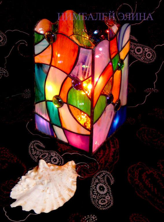 Светильники из витражного стекла своими руками