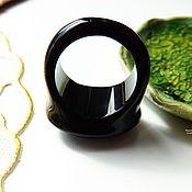 Украшения ручной работы. Ярмарка Мастеров - ручная работа Перстень из черного агата Черный принц 19.25 р-р. Handmade.