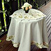 Для дома и интерьера handmade. Livemaster - original item Set table linens from linen tablecloth and lunchmate Prokhorovskaya rose. Handmade.