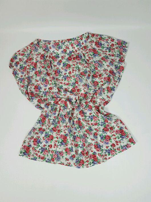 Топы ручной работы. Ярмарка Мастеров - ручная работа. Купить Блуза с цветочным принтом (S). Handmade. Штапель, осень, топ