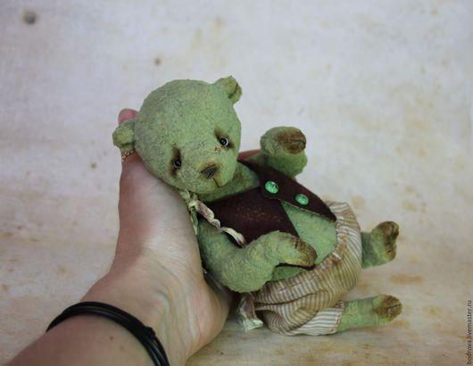 Мишки Тедди ручной работы. Ярмарка Мастеров - ручная работа. Купить Фисташ. Handmade. Тедди, плюш