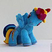 Куклы и игрушки ручной работы. Ярмарка Мастеров - ручная работа Пони - Радуга... коллекционная игрушка. Handmade.