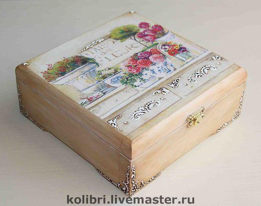 """Кухня ручной работы. Ярмарка Мастеров - ручная работа. Купить Чайная шкатулка """" Maison des Fleurs """". Handmade."""