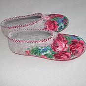 """Обувь ручной работы. Ярмарка Мастеров - ручная работа Тапочки """"Акулина"""". Handmade."""