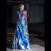 Одежда ручной работы. Ярмарка Мастеров - ручная работа Телескопическая юбка с рыбками. Handmade.