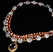 Украшения handmade. Livemaster - original item Necklace with pearls, amethyst and rose quartz. Handmade.