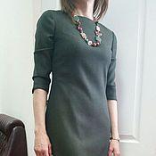 Одежда ручной работы. Ярмарка Мастеров - ручная работа 108: Приталенное платье из тонкой шерсти, офисное платье на подкладке. Handmade.
