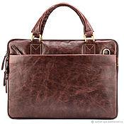 Сумки и аксессуары handmade. Livemaster - original item Leather business bag wreck-it Ralph (antique brown). Handmade.