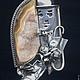 Кулоны, подвески ручной работы. Ярмарка Мастеров - ручная работа. Купить Кулон из серебра с кристаллами оникса - Чаплин. Handmade. Золотой