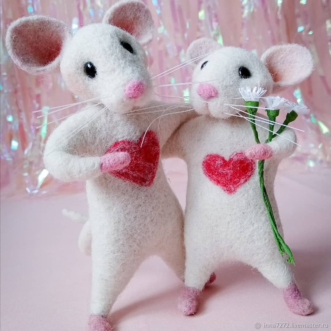 Felt toy: mice made of wool, Felted Toy, Dimitrovgrad,  Фото №1