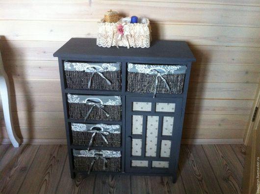 """Мебель ручной работы. Ярмарка Мастеров - ручная работа. Купить Комод """"Серый"""". Handmade. Серый, мебель в стиле прованс, лоза"""