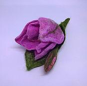 Украшения ручной работы. Ярмарка Мастеров - ручная работа Брошь Тюльпан розовый. Handmade.