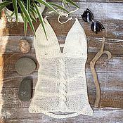 """Одежда ручной работы. Ярмарка Мастеров - ручная работа Топ вязаный """"Белый песок"""". Handmade."""