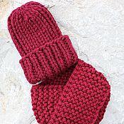 Шапки ручной работы. Ярмарка Мастеров - ручная работа Готовый комплект на зиму шапка и снуд. Handmade.