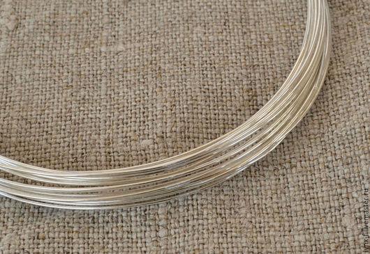 Для украшений ручной работы. Ярмарка Мастеров - ручная работа. Купить Проволока серебро 925 0,4мм, 1м. Handmade.