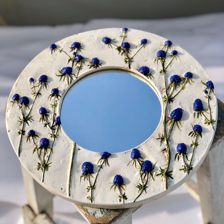 "Зеркало с синеголовником. ""Скандинавия"", Зеркала, Иркутск,  Фото №1"