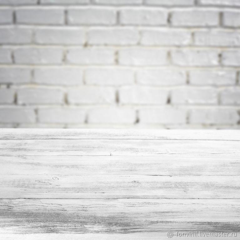 Виниловый фон 50х50 Двойные, Стена-пол, Доски, Кирпич, Фотофоны, Челябинск,  Фото №1