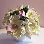 Цветы и флористика ручной работы. Ярмарка Мастеров - ручная работа Тропический мини-букет. Handmade.
