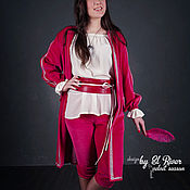 Одежда ручной работы. Ярмарка Мастеров - ручная работа Костюм-тройка. Бархатный камзол, бриджи, блузка из шелка. Handmade.