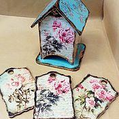 """Для дома и интерьера ручной работы. Ярмарка Мастеров - ручная работа Чайный домик """"чудесные розы"""". Handmade."""
