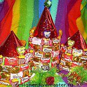 """Куклы и игрушки ручной работы. Ярмарка Мастеров - ручная работа """"Конфетный замок"""" букет из конфет. Handmade."""