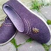 Обувь ручной работы. Ярмарка Мастеров - ручная работа Тапочки шерстяные с собачьей шерстью Неонила. Handmade.