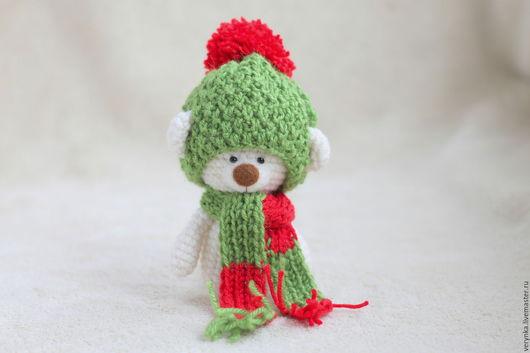 Игрушки животные, ручной работы. Ярмарка Мастеров - ручная работа. Купить Вязаный амигуруми мишка - новогодний тедди мишка. Handmade.