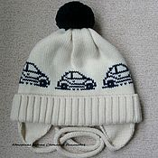 Работы для детей, ручной работы. Ярмарка Мастеров - ручная работа Зимняя мериносовая шапка для мальчика. Скидка 30%. Handmade.