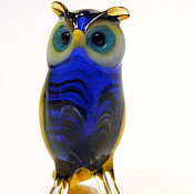 Для дома и интерьера handmade. Livemaster - original item Interior figurine made of colored glass owl, Bigsarge. Handmade.