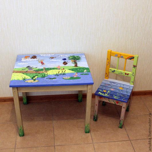 Детская ручной работы. Ярмарка Мастеров - ручная работа. Купить Детский столик с персонажами мультфильмов. Handmade. Детская комната