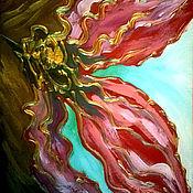 """Картины и панно ручной работы. Ярмарка Мастеров - ручная работа Картина цветов """"Фантазийный цветок"""". Handmade."""