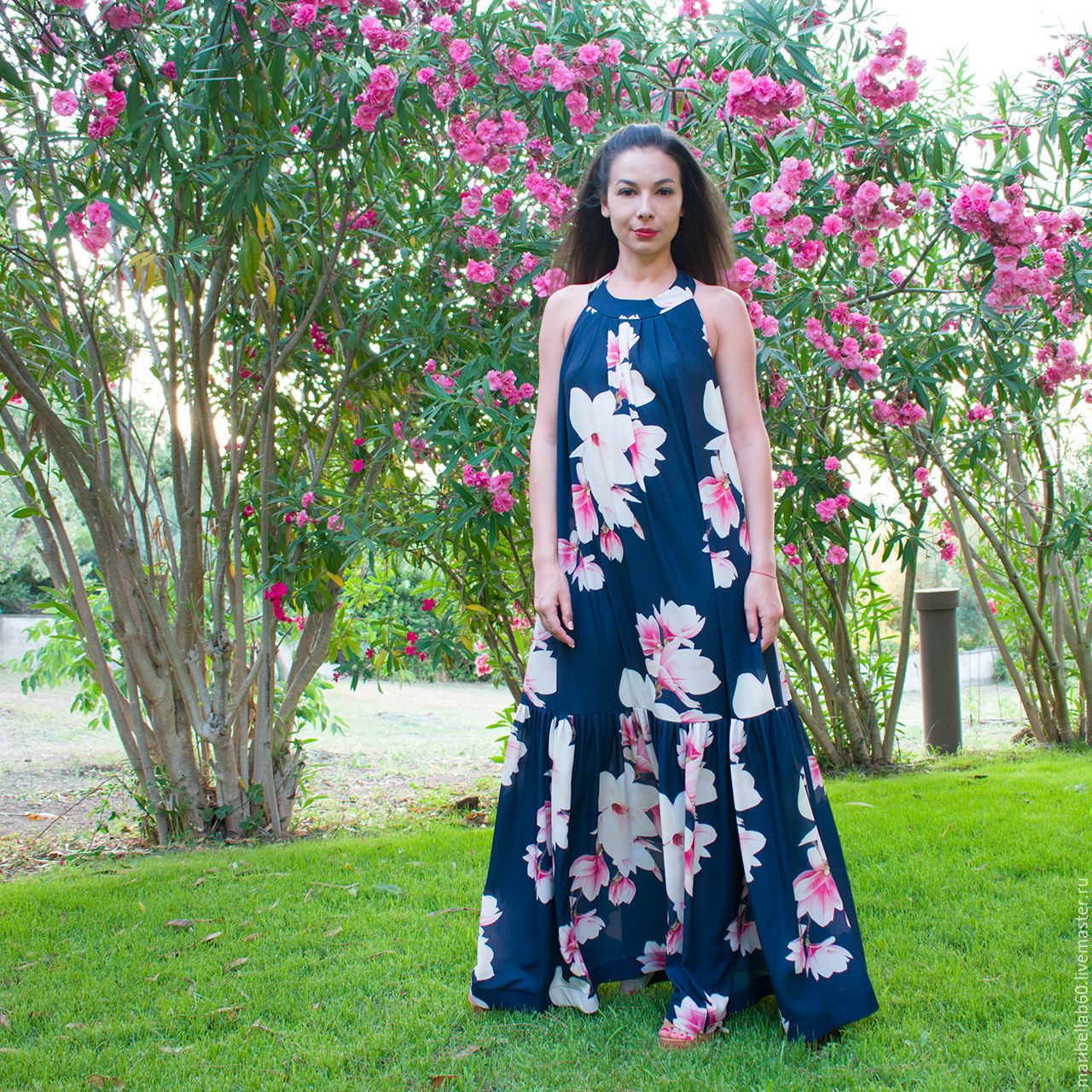 f47efb40da7 Большие размеры ручной работы. Ярмарка Мастеров - ручная работа. Купить  Летнее платье с цветочным ...