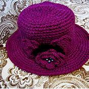 Аксессуары ручной работы. Ярмарка Мастеров - ручная работа шляпа вязаная. Handmade.