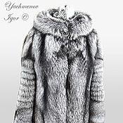 Одежда ручной работы. Ярмарка Мастеров - ручная работа Шуба из серебристой лисы.. Handmade.