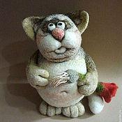 """Куклы и игрушки ручной работы. Ярмарка Мастеров - ручная работа """"Мадам, я старый солдат и не знаю слов любви..."""" Войлочный кот. Handmade."""