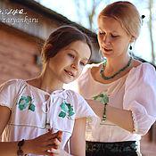 Одежда ручной работы. Ярмарка Мастеров - ручная работа Юбка и блузка Маме с дочкой. Handmade.