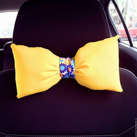 Декор автомобилей ручной работы. Ярмарка Мастеров - ручная работа. Купить Pillow for car! Подушка в виде галстука-бабочки для авто!. Handmade.