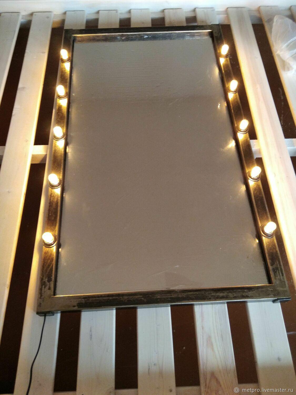 Зеркало с подсветкой в металлической раме, Зеркала, Москва,  Фото №1