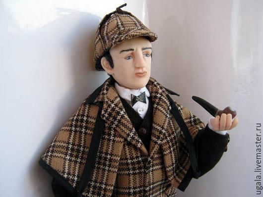 Коллекционные куклы ручной работы. Ярмарка Мастеров - ручная работа. Купить Кукла Шерлок Холмс. Handmade. Шерлок, ручная работа
