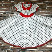 Работы для детей, ручной работы. Ярмарка Мастеров - ручная работа Платье нарядное в горошек. Handmade.